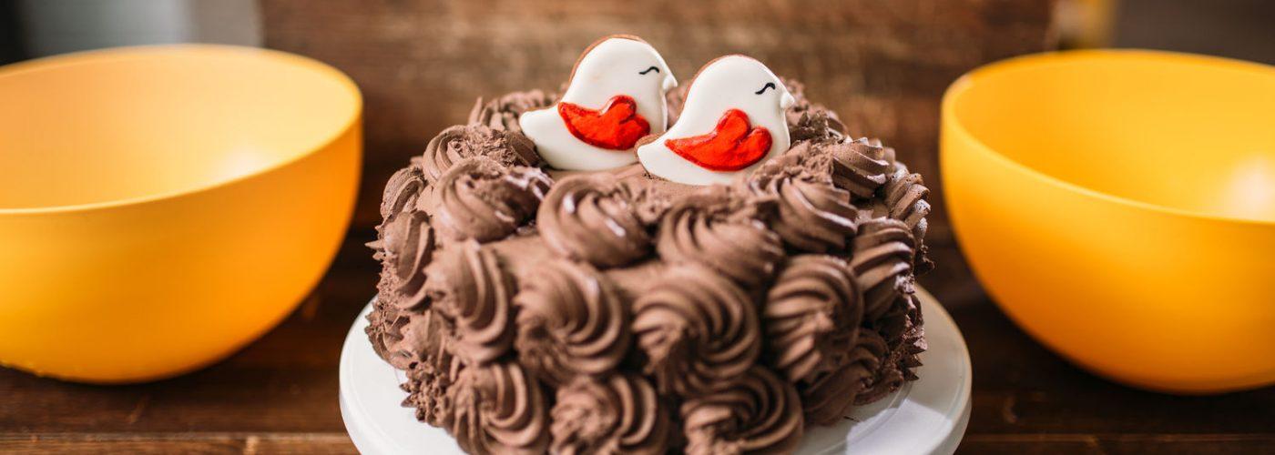 Chocolate Cake Cookies in Glaze